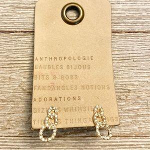 Anthropologie sparkly loop post earrings NEW